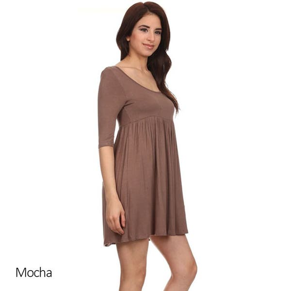 Shop MOA Collection Women\'s Plus Baby Doll Dress - On Sale ...