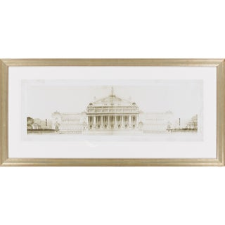"Les Grand Prix de Rome Dillon Framed Giclee on Paper 43"" x 21"""