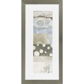"Abstract Javier Rectangular Framed Giclee on Paper 43"" x 22"""