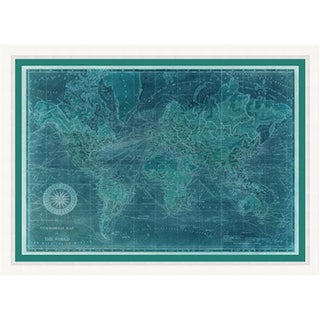 "Map Jaiden Rectangular Giclee on Paper Framed Wall Art 43"" x 31"""