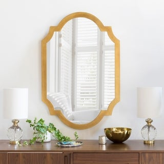 "Angela Gilded Finish Accent Mirror 30"" x 45"" - 30"" x 45"""