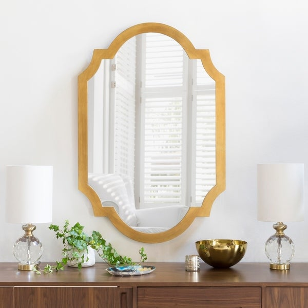 """Angela Gilded Finish Accent Mirror 30"""" x 45"""" - 30"""" x 45"""". Opens flyout."""