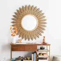 """Decorative Maggie Gilded Finish Accent Mirror - 47"""" x 47"""" - Aged Gold"""
