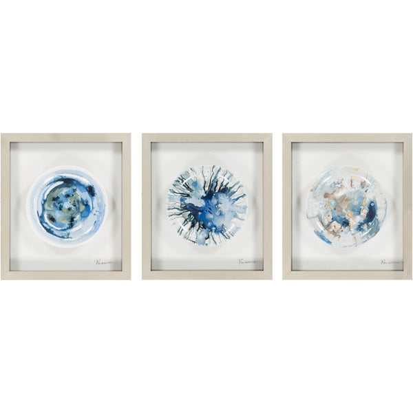 """Matching Set Brenda Framed Hand-painted Ceramic Plate 16"""" x 18"""". Opens flyout."""