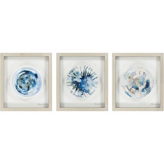 "Matching Set Brenda Framed Hand-painted Ceramic Plate 16"" x 18"""