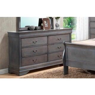 LYKE Home Louis Phillip Grey Dresser
