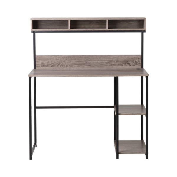 Laptop Desk with Hutch in Natural Reclaimed Wood - Free Shipping Today