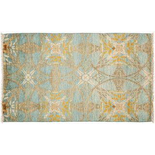 Suzani Hand Knotted Area Rug  - 3x5 Blue