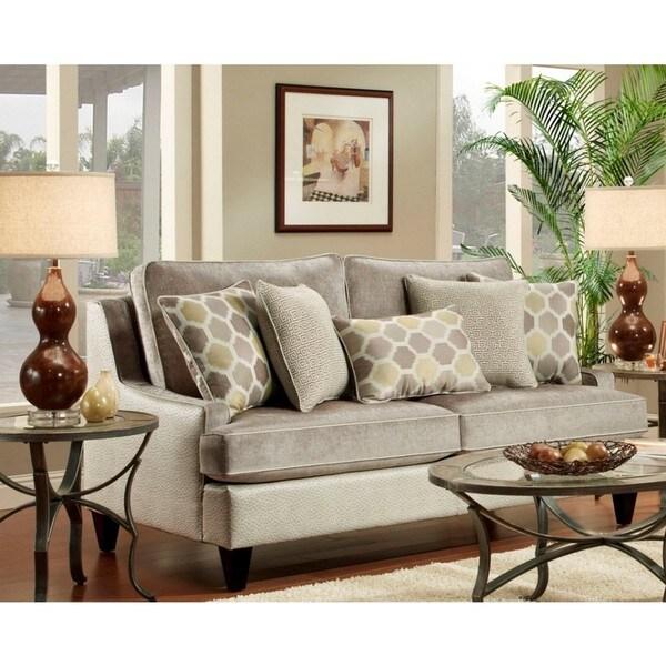 Lyke Home Russel Lavender Sofa