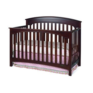 Child Craft Stanford 4-in-1 Cherry Rounded Top Convertible Crib