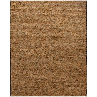 ABC Accent Shag Light Gold Wool Rug (8' x 10')
