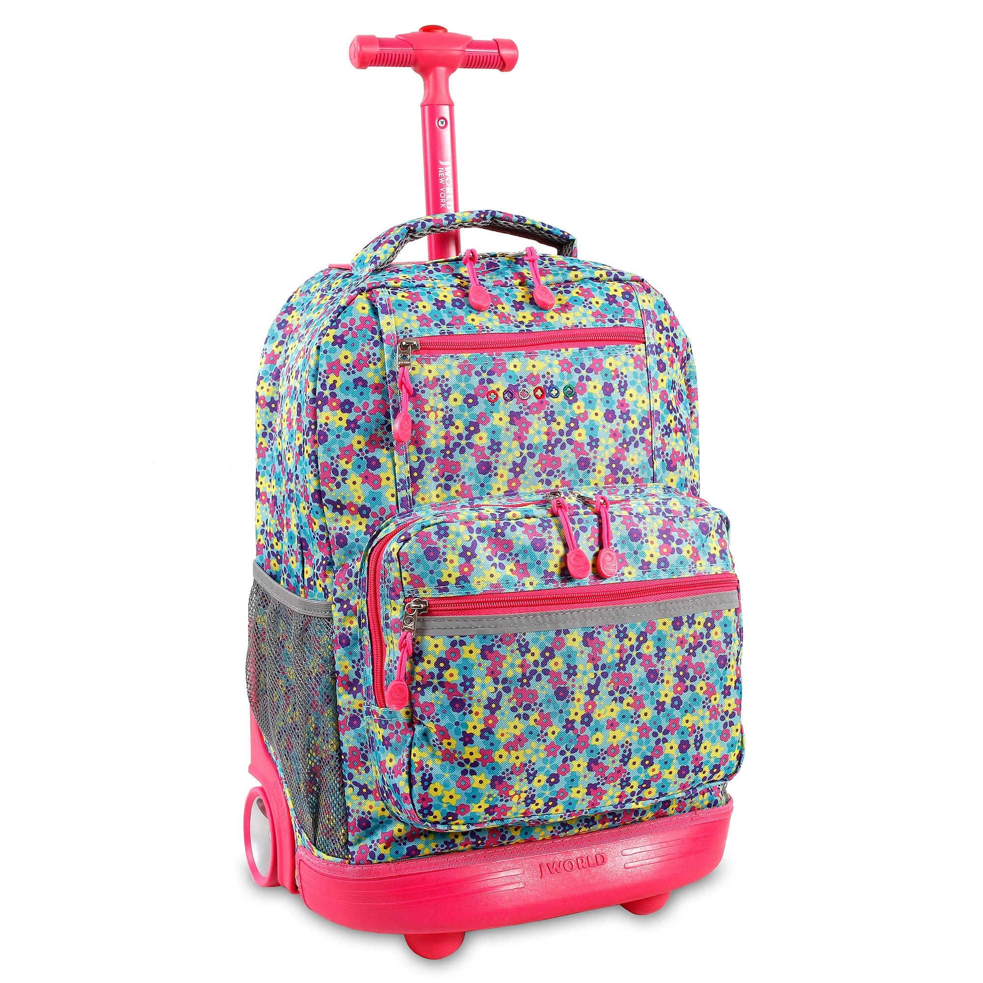 J World Foret Sunset Rolling Laptop Backpack (Floret), Blue