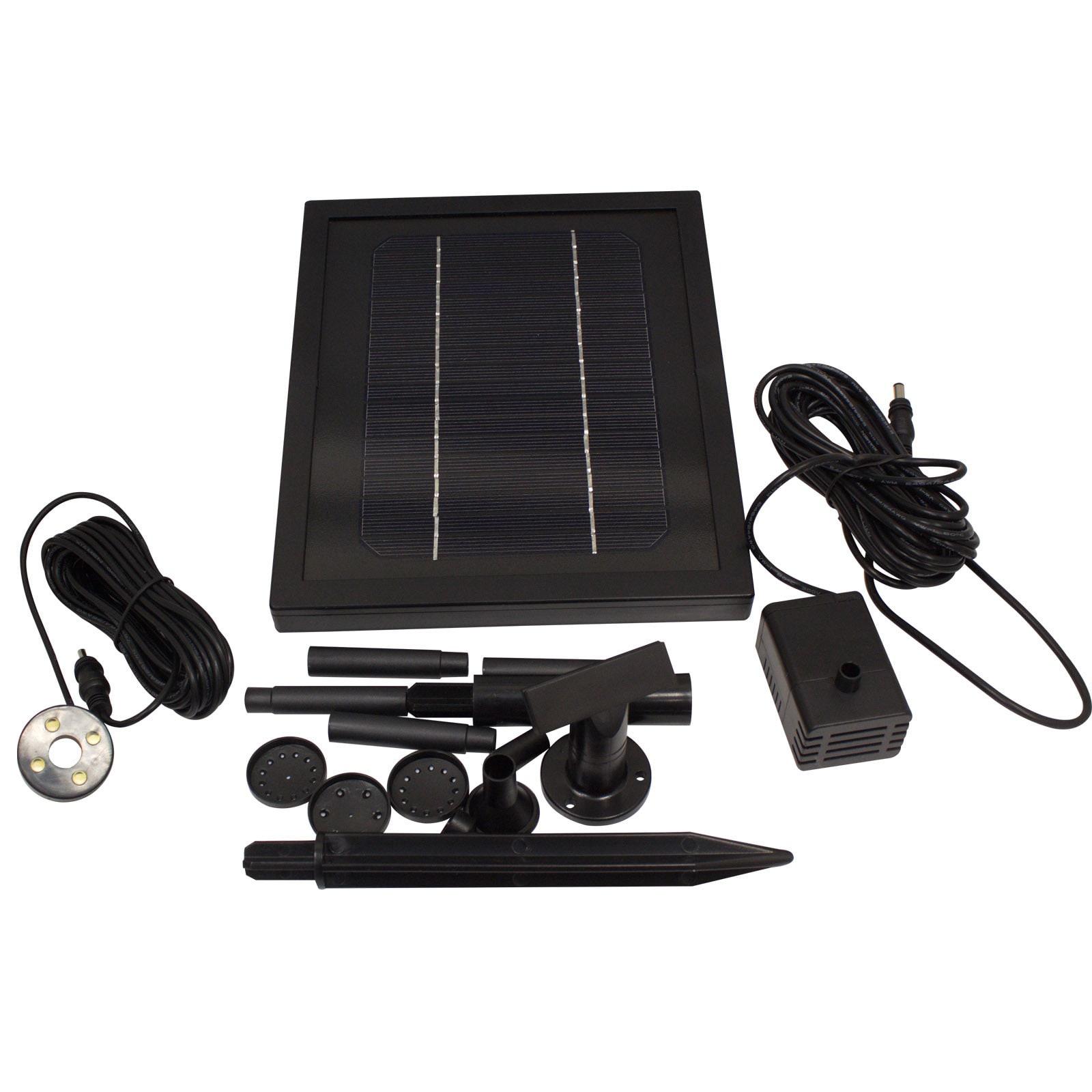 GARDEN SUN LIGHT 3 Watt Solar Water Pump with Battery and...