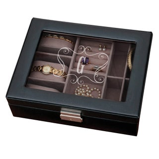 Single Initial Black Jewelry Box