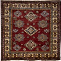 South West Hand Knotted Area Rug - Red - 4 x 6