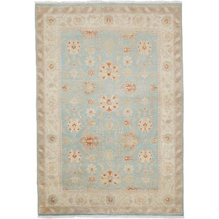 Oushak Hand Knotted Area Rug - 4x6 Blue