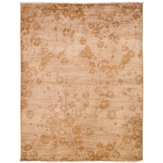 Ziegler Hand Knotted Area Rug - 4x6 Beige