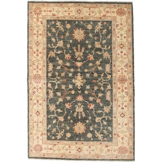 Oushak Hand Knotted Area Rug  - 4x6 Green