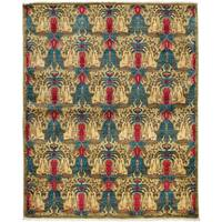 Suzani Hand Knotted Area Rug Yellow - 4 x 6
