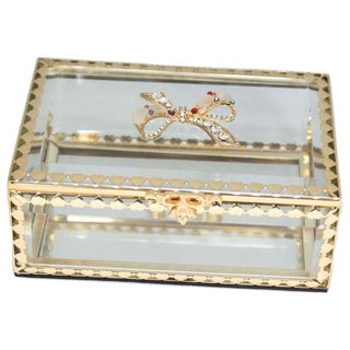 Elegance Glitzy Ribbon Jewelry Box