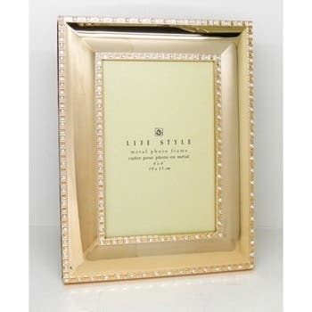 Heim Concept Gold Plated with Sparkling Crystal 5x7-inch Frame