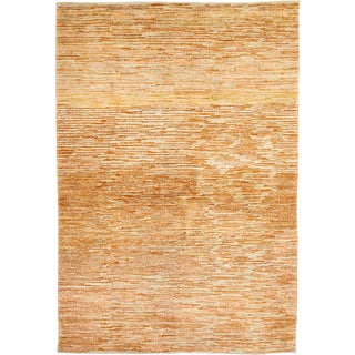Gabbeh Hand Knotted Area Rug - 4x6 Beige