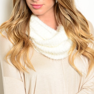 Shop the Trends Women's Fuzzy Knit Infinity Scarf