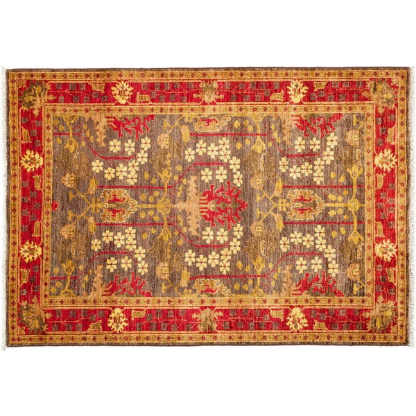 Art Deco Hand Knotted Area Rug