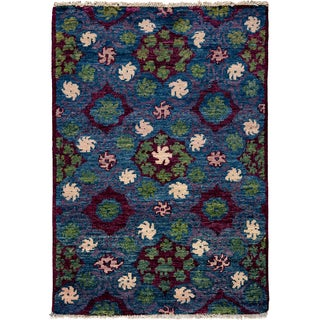 Kaitag Hand Knotted Area Rug - 4x6 Red