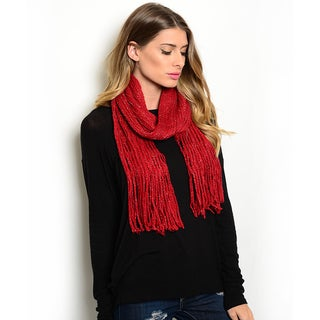 Shop the Trends Women's Mixed Knit Infinity Scarf With Long Fringe
