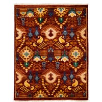 Suzani Hand Knotted Area Rug Red - 4 x 6