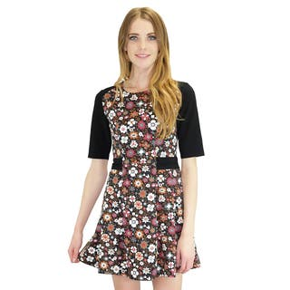 Relished Women's Red Flora Short Sleeve Dress https://ak1.ostkcdn.com/images/products/10614076/P17685013.jpg?impolicy=medium