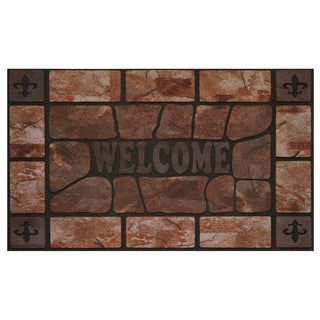 30-inch Raised Rubber Clay Stone Mat