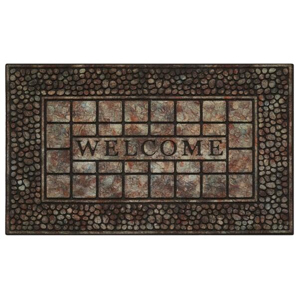 Achim 30-inch Raised Rubber Pebble Doormat