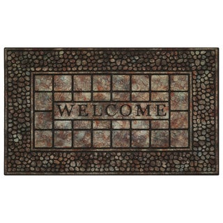 Achim 30-inch Raised Rubber Pebble Doormat