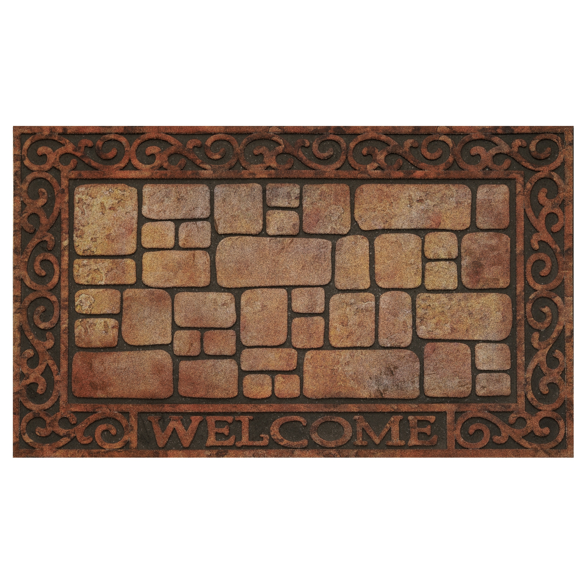 Achim 30-inch Raised Rubber Paver Scroll Mat (Paver Scrol...