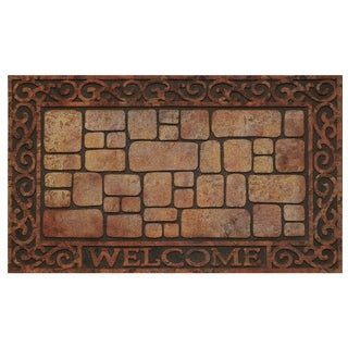 Achim 30-inch Raised Rubber Paver Scroll Mat