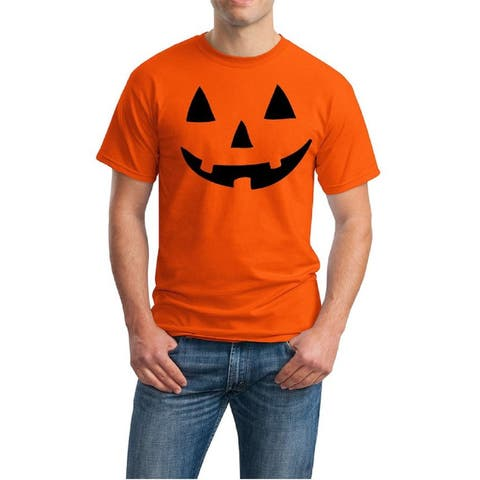 Men's Cotton Jack O Lantern Halloween Costume T Shirt