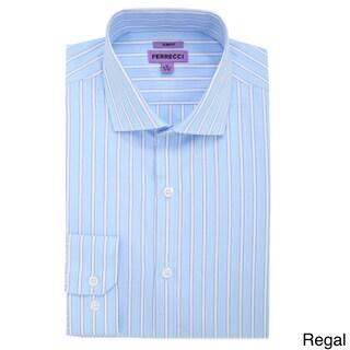 Ferrecci Men's Slim Fit Premium Cotton Dress Shirt (More options available)