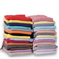 Soft Cotton Diamond Weave 60-inch Throw Blanket (Set of 2)