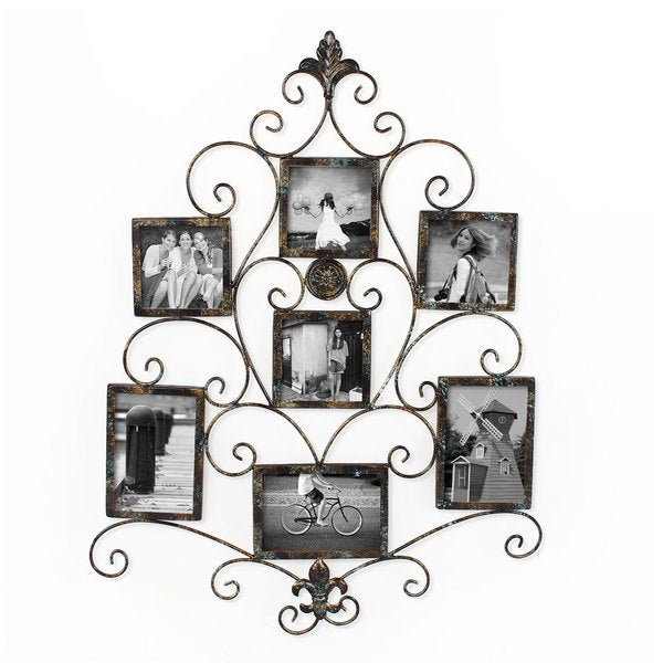 Adeco 7-opening Metal Photo Picture Collage Frame - Free ...