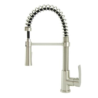 S-Series Contemporary Residential Spring Coil Kitchen Faucet in Brushed Nickel