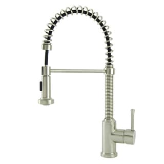 S-Series Residential Spring Coil Kitchen Faucet in Brushed Nickel