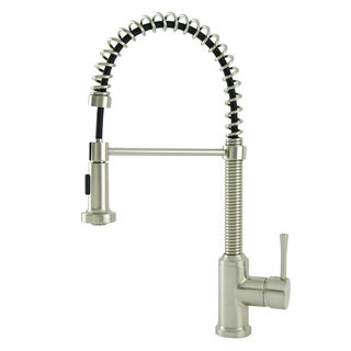 S-Series Residential Brushed Nickel Spring Coil Kitchen Faucet