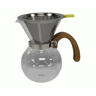400 ML Pour Over Carafe & Double Walled Washable Stainless Steel Filter Part # DG-2117