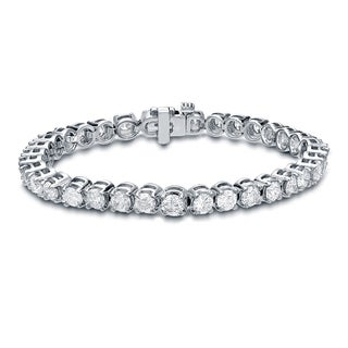 Auriya 14k White Gold 15ct TDW Diamond Tennis Bracelet (H-I, SI1-SI2)