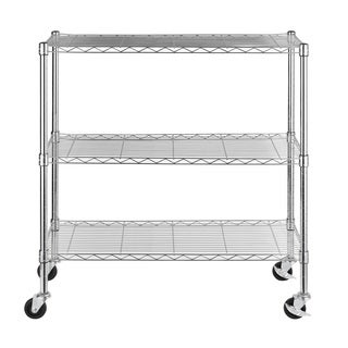 Excel 3-tier Chrome Wire 36-inch Multi-purpose Shelving
