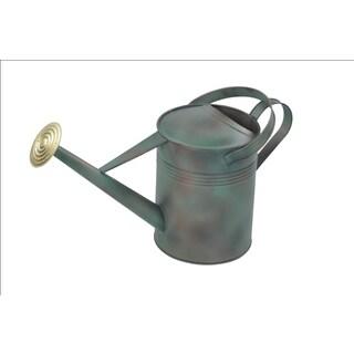 Alliyah Handmade Green Watering Fine Galvanized Can