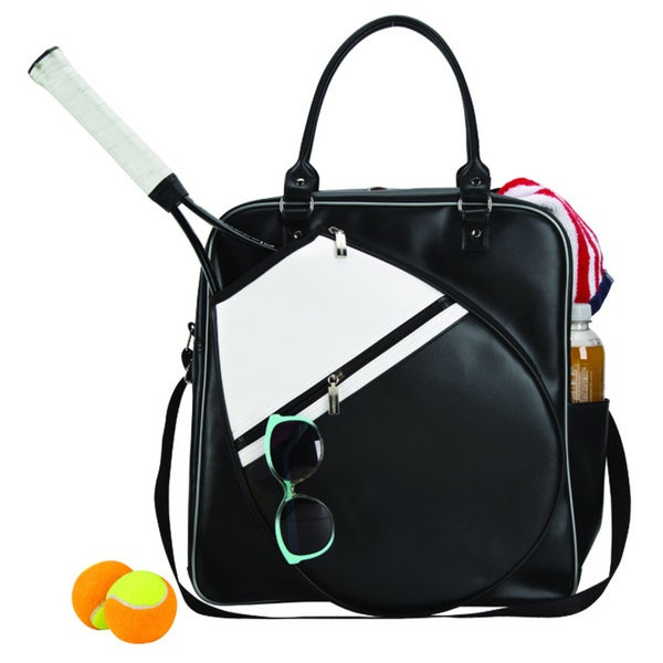 388b2d90e52d06 Shop Black Unisex Women / Men Gym Fitness Outdoor Sport Metro Court Chic  Tennis Holder Racket Duffel Bag - Free Shipping On Orders Over $45 -  Overstock - ...