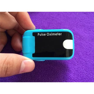Fingertip Pulse Oximeter with Audio Alarm Sound (blue)